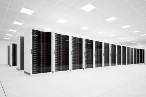 Data Center with long row angular